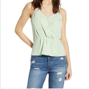 NWT Leith green camisole tank top sz small